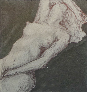 Painting of reclining woman in ecstacy