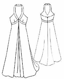 Moldes para hacer vestidos largos de fiesta