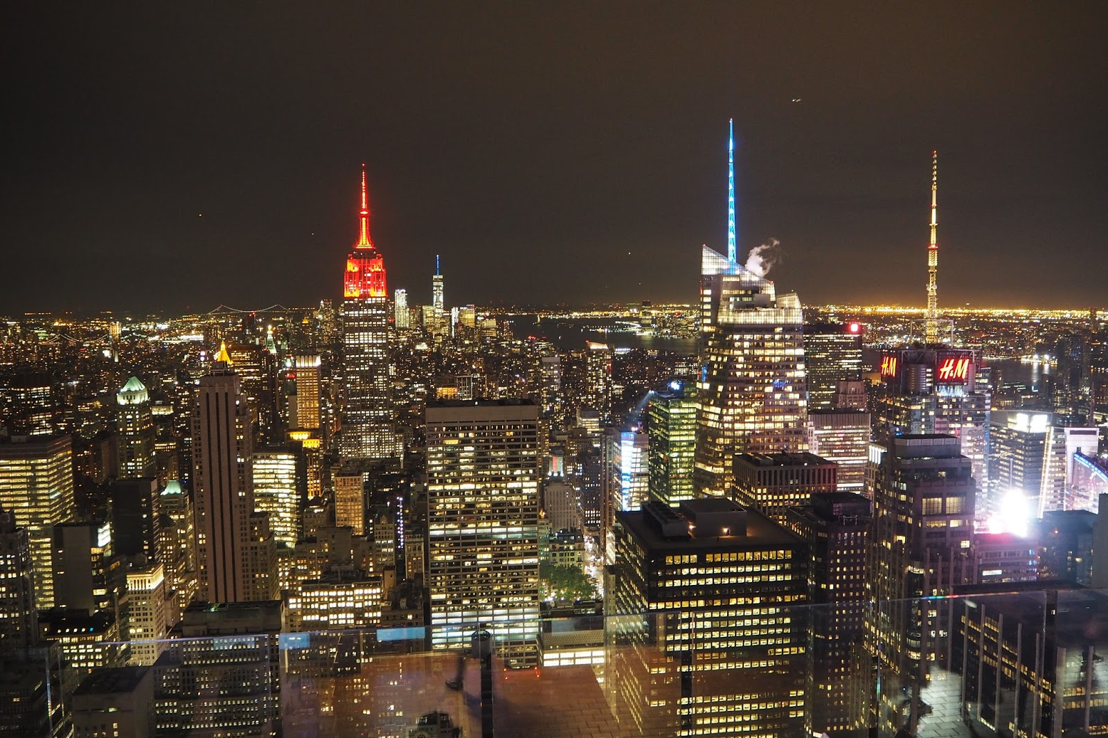 View from the Top of the Rock at night