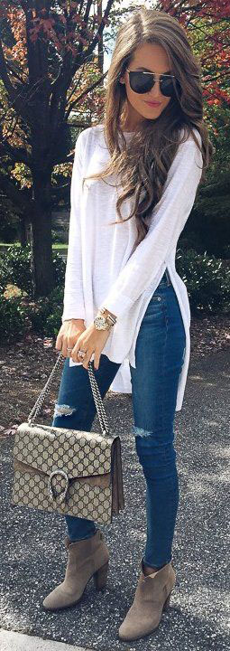 Winter Outfit Ideas 2018 To Try #Jeans Now #winteroutfits