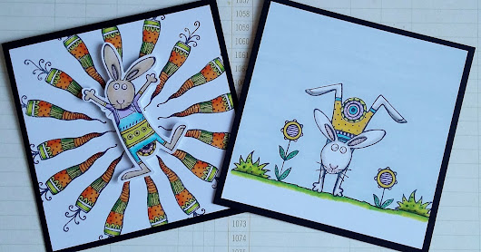 Easter Bunnies with Sweet Dixie Stamps by Teresa Morgan