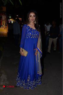 Telugu Actress Tejaswi Madivada Pos in Blue Long Dress at Nanna Nenu Na Boyfriends Audio Launch  0103.JPG