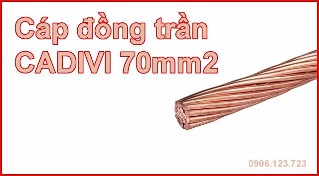 Bảng giá cáp đồng trần 70mm2 - Cáp tiếp địa 70mm2 chiết khấu cao