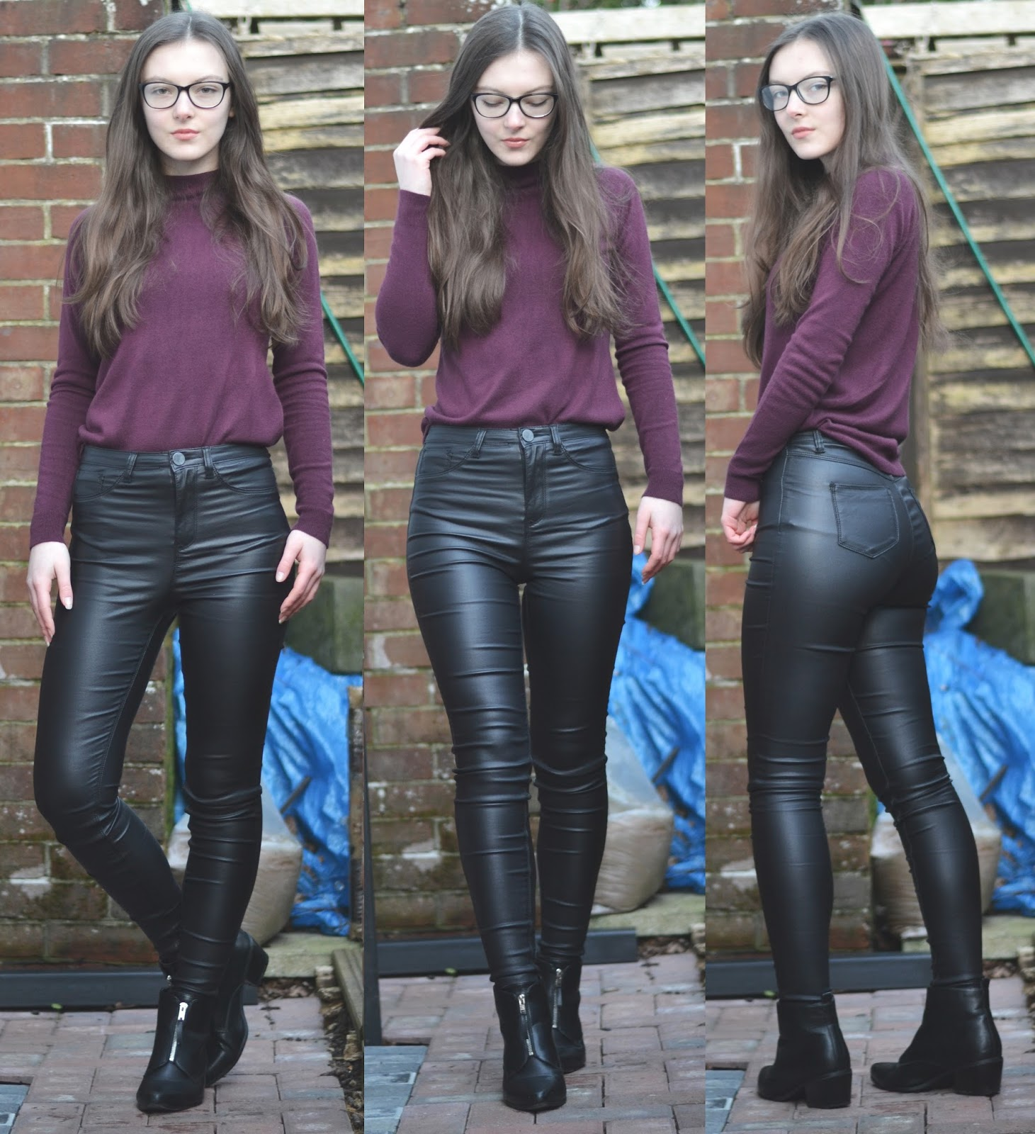 lunar look leather trousers
