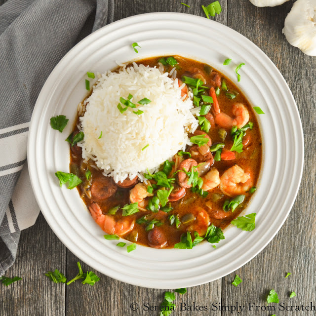 Shrimp and Sausage Gumbo is a fun dish full of flavor! Recipe contains easy to follow step by step instructions.