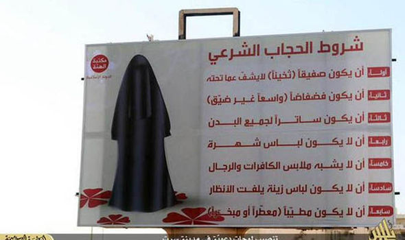 Meanwhile, in Islamic State-controlled Syria, women are REQUIRED to wear the burqa