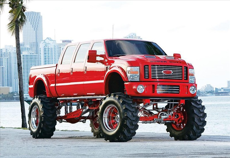 Shestidvernyh monster Ford F-250 Reds from Miami