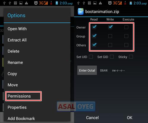 memasang boot animation Android M