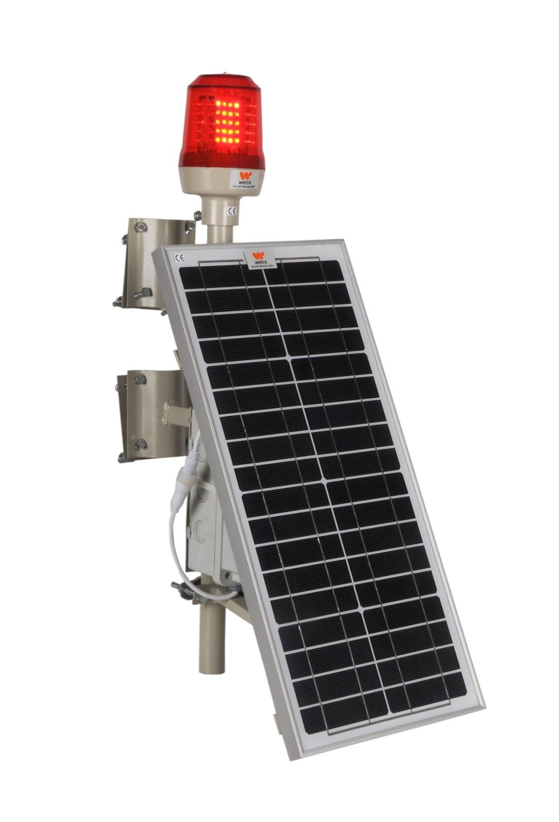 wetra güneş enerjili uçak ikaz lambaları