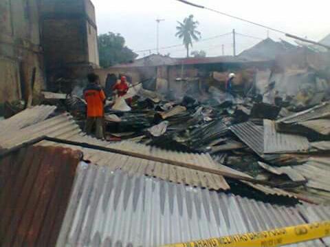 Satu Korban Jiwa, Delapan Unit Ludes Terbakar di Kota Dumai