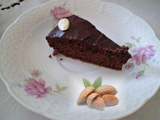 Leben Natur Shabby Chic Schoko Mandel Kuchen Vegan Glutenfrei