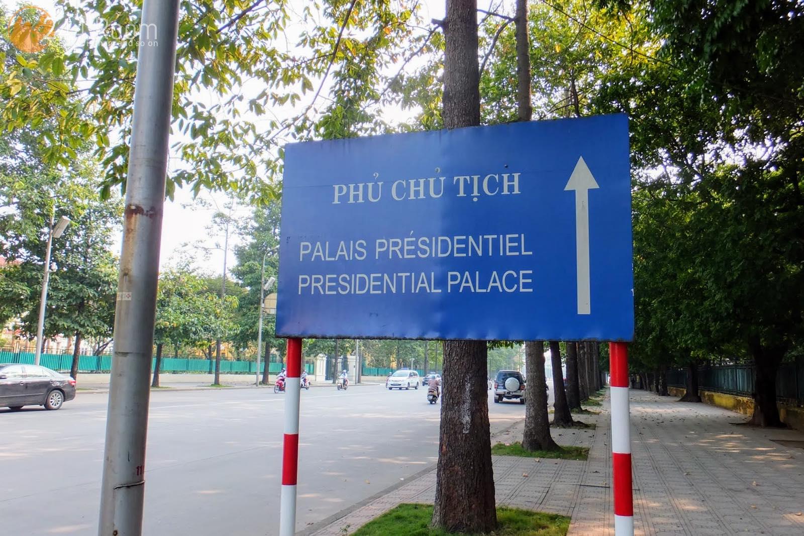 ベトナム大統領府看板 Presidential Palace sign