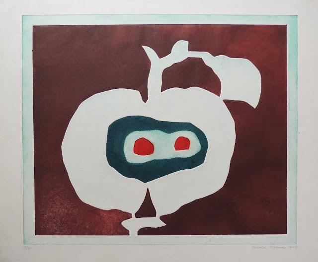 Siegrid Stefanow grabado frutas manzana