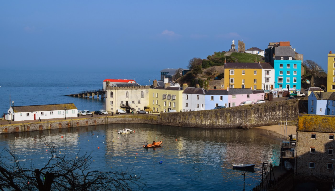 Tenby town, West Wales