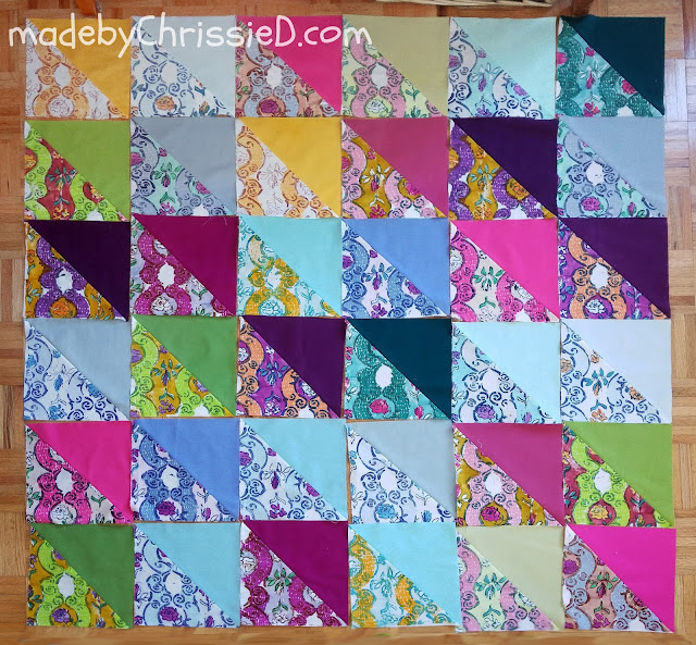 The Colour Drop Quilt by www.madebyChrissieD.com