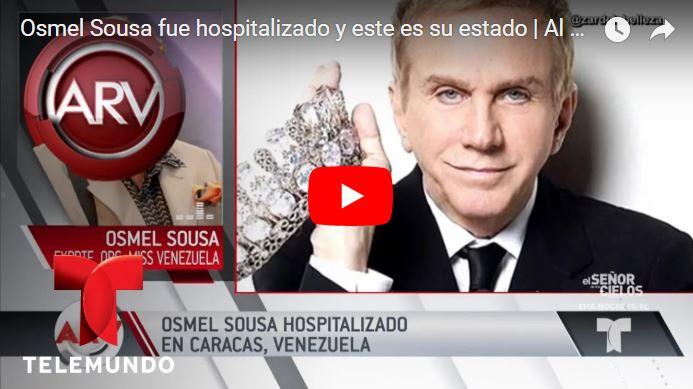 Osmel Sousa internado de emergencia en una clínica de Caracas