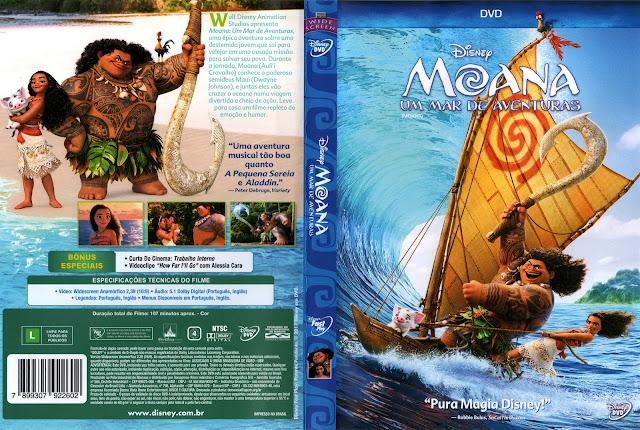 Capa DVD Moana (Oficial)