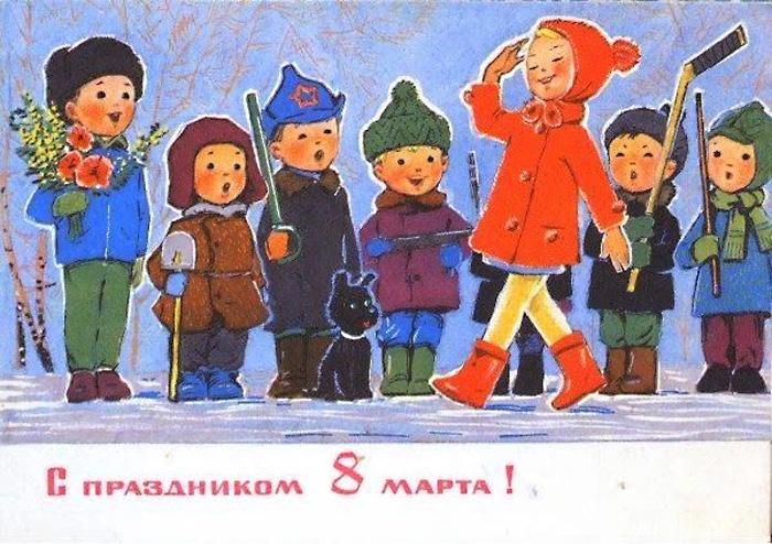 25 красивых открыток с 8 Марта времен СССР