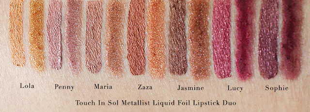 Touch In Sol Metallist Liquid Foil Lipstick Duo Swatches, Touch In Sol Metallist Liquid Foil Lipstick Duo Review, Touch In Sol Metallist, Metallic Lips, Easy Way to Achieve Metallic Lips. K Beauty Metallic Lips,