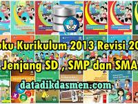 Terbaru !! Buku Kurikulum 2013 Revisi 2018 Untuk Jenjang SD , SMP dan SMA