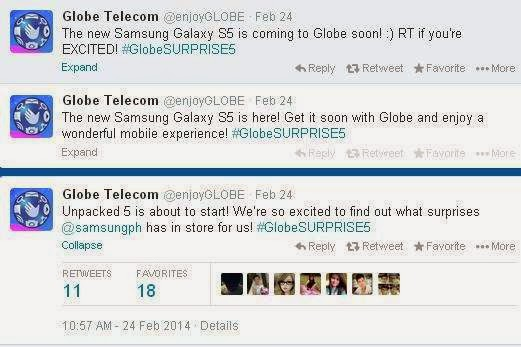 Globe Telecom to carry Samsung Galaxy S5 on their Postpaid Plan