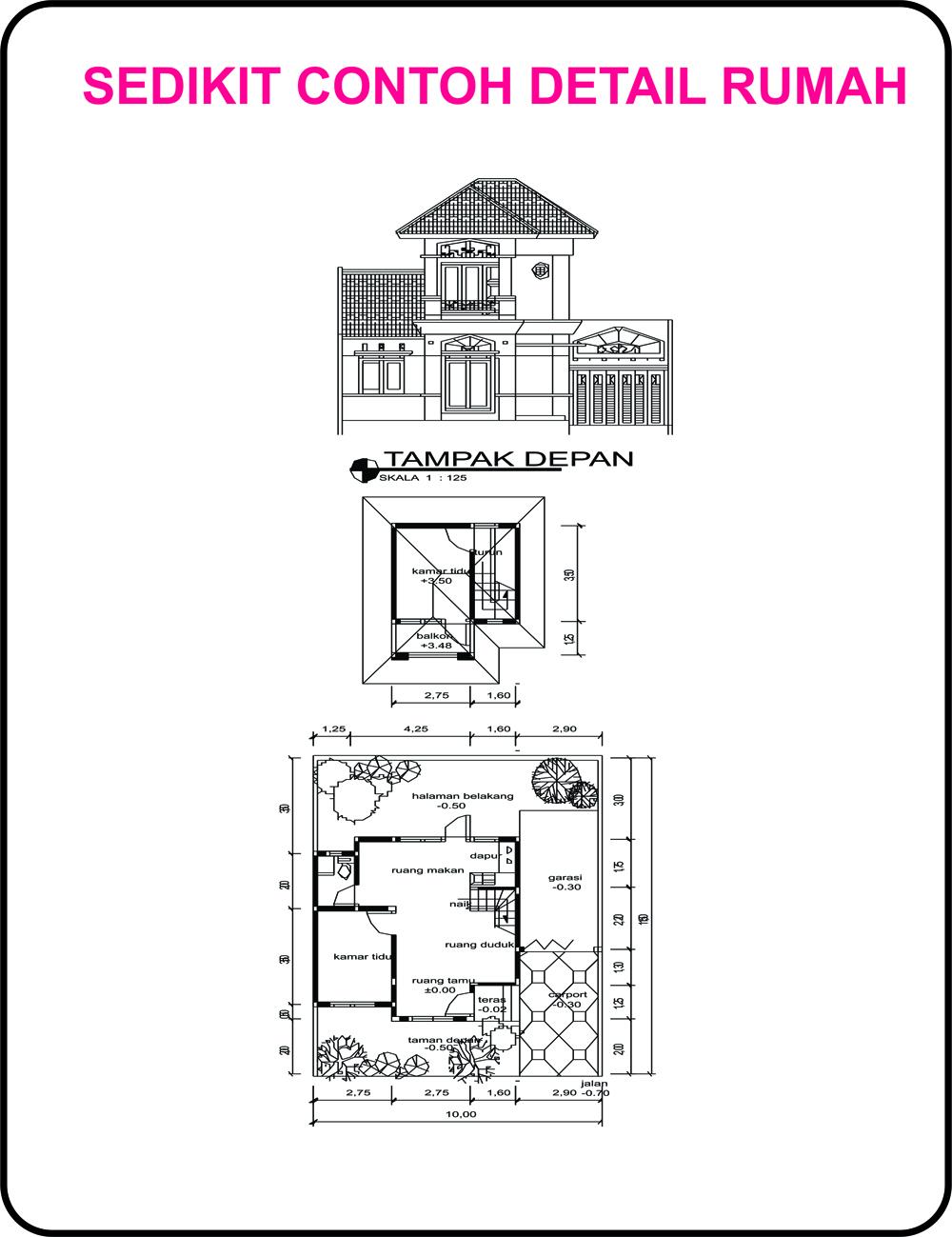 Contoh Denah Rumah Fengshui Desain Rumah
