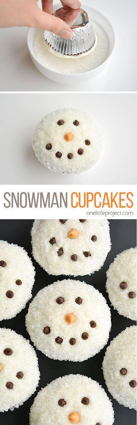 ★★★★☆ 1601 ratings      Easy Snowman Cupcakes  #Easy #Snowman #Cupcakes #Sweet #Winter