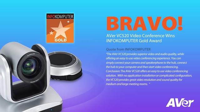 Thông tin thiết bị hội nghị truyền hình AVer VC520 giành giải thưởng