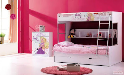 Kamar Tidur Anak Perempuan Tema Barbie