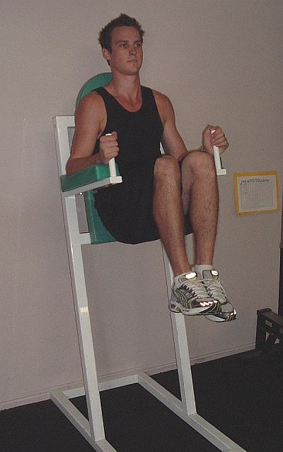 captains chair gym machine plastic chairs and tables how to get rid of belly fat: the captain's exercise