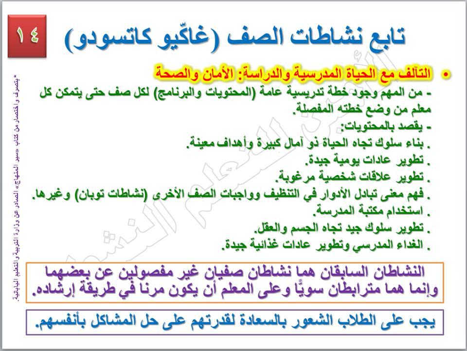 الأنشطة الخاصة [التوكاتسو] التى ستطبق في نظام التعليم الجديد 14
