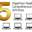 5 Paperless Reading Comprehension Activities