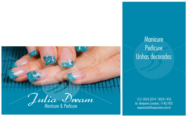cartao de visita manicure belo horizonte - Cartões de Visita para Manicure e Pedicure