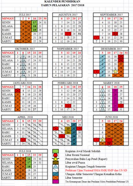 Download kalender pendidikan 2017-2018 semua provinsi lengkap