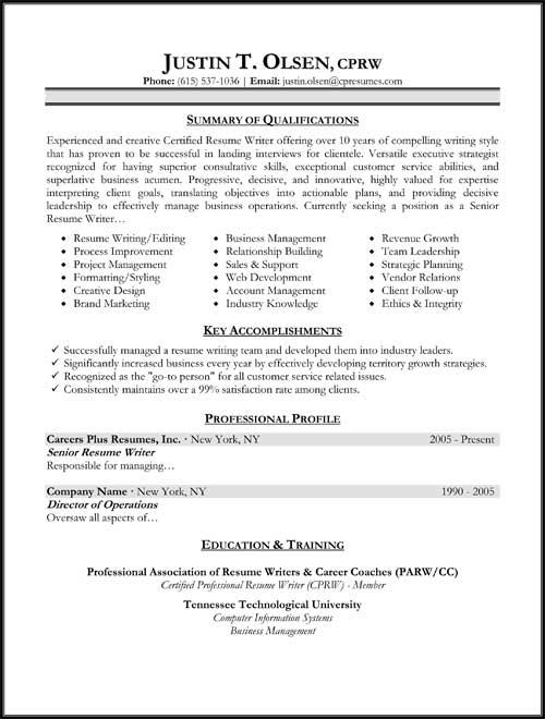 Resume Format - Slim Image - Some Resume Formats