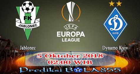 Prediksi Bola855 Jablonec vs Dynamo Kyiv 5 Oktober 2018