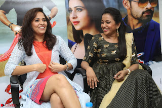 Actress Suma in Black Salwar Suit and Anusuya in orange Dress at winner movie press meet part 2 February 2017 (51).JPG