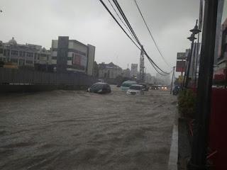 Foto Genangan Air Sekitar Kelapa Gading Jakarta Hari Ini