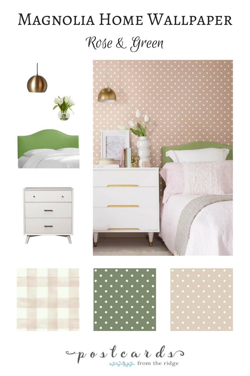 joanna gaines wallpaper polka dots