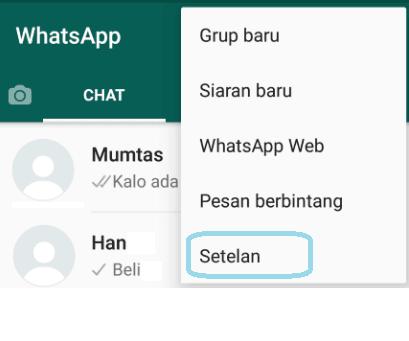 Setelan WA