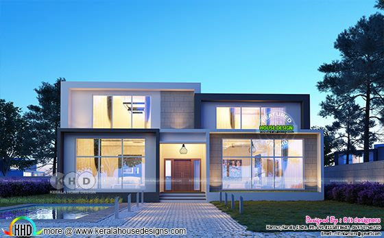 2890 square feet 4 bedroom contemporary home flat roof