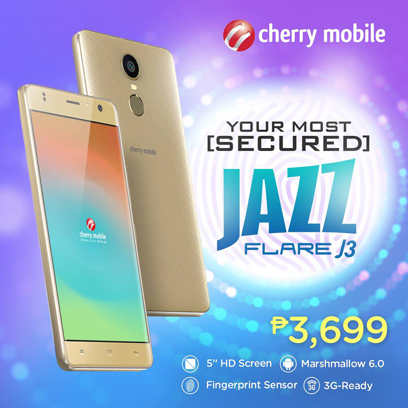 Cherry Mobile Flare J3 Now Official, Equipped With A Fingerprint Sensor For 3699 Pesos Only!