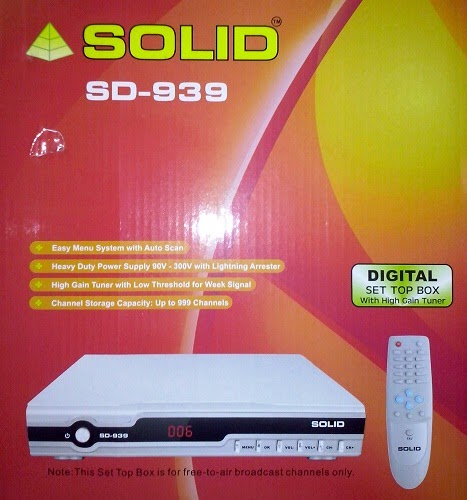 Solid SD-939 DVB-S / MPEG-2 FTA Set-Top Box