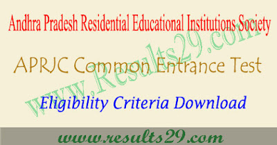 APRJC Eligibility Criteria 2022-2023 @aprjdc.apcfss.in
