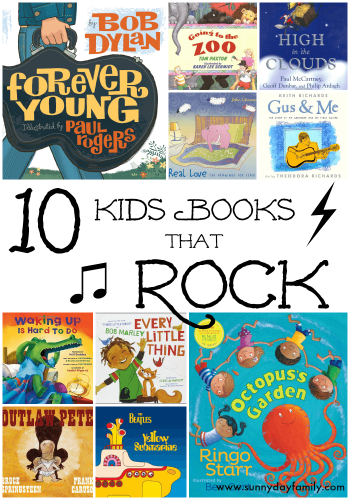 10 kids books that ROCK! Awesome children's books written by classic rock stars.