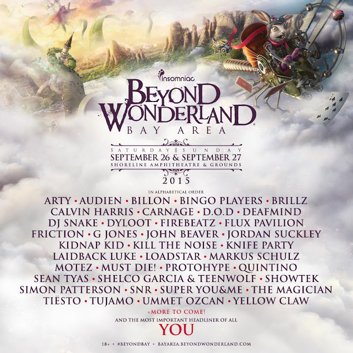 Beyond Wonderland bay area 2015 lineup