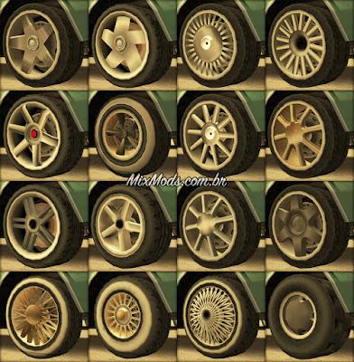 gta sa san mod new lowpoly wheels rodas tuning originais hd
