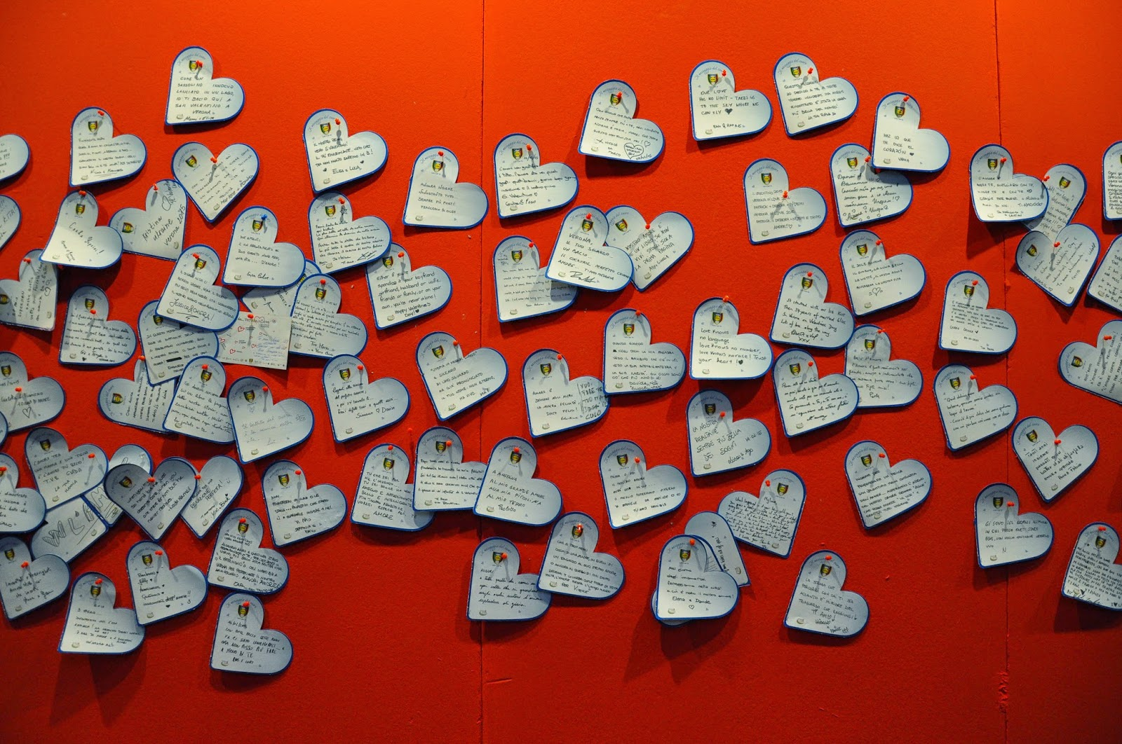 Love messages at Verona in Love 2015