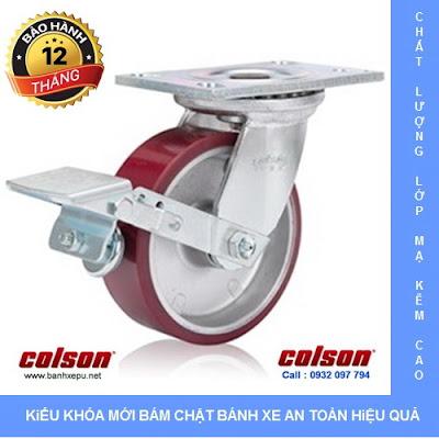 Bánh xe xoay có khóa chịu lực 675kg Colson 8 inch | 6-8299-939BRK1 banhxedayhang.net