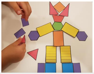 Aus geometrischen Formen Bilder erstellen, Formen erforschen, zerlegen und neue Formen entdecken.